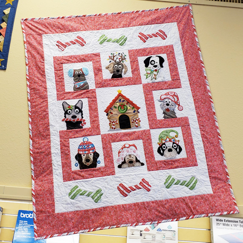 Holiday Hounds Christmas Quilt