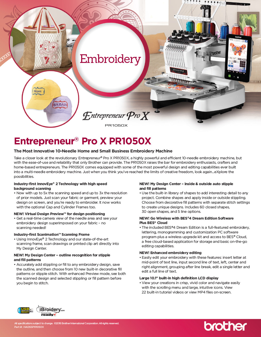 Brother Entrepreneur PR1050X
